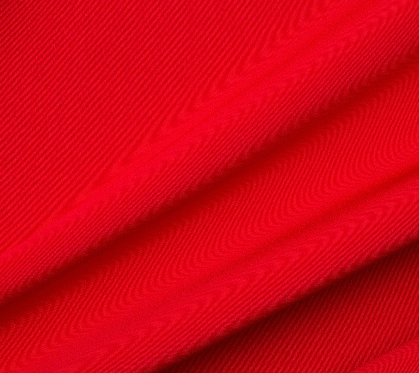 Bright Red Silk Marocain Crêpe<br />