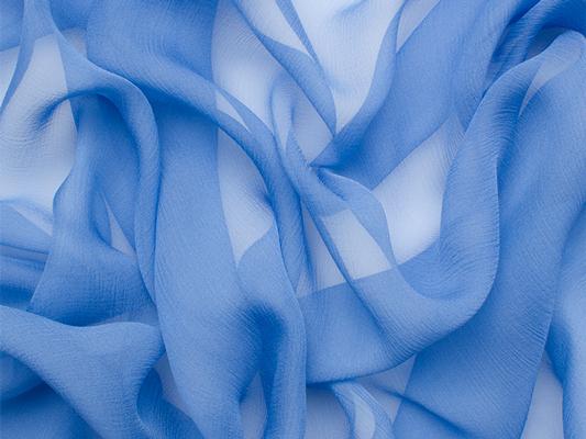Deep Sky Blue Silk Chiffon, £33.90/m
