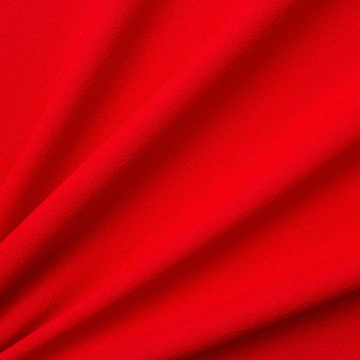 Red Single Wool Crêpe<br />
