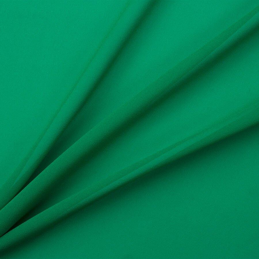 Emerald Green Silk Georgette