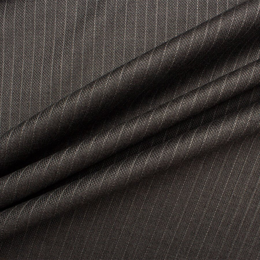Super 110' Grey Pinstripe Wool by Scabal
