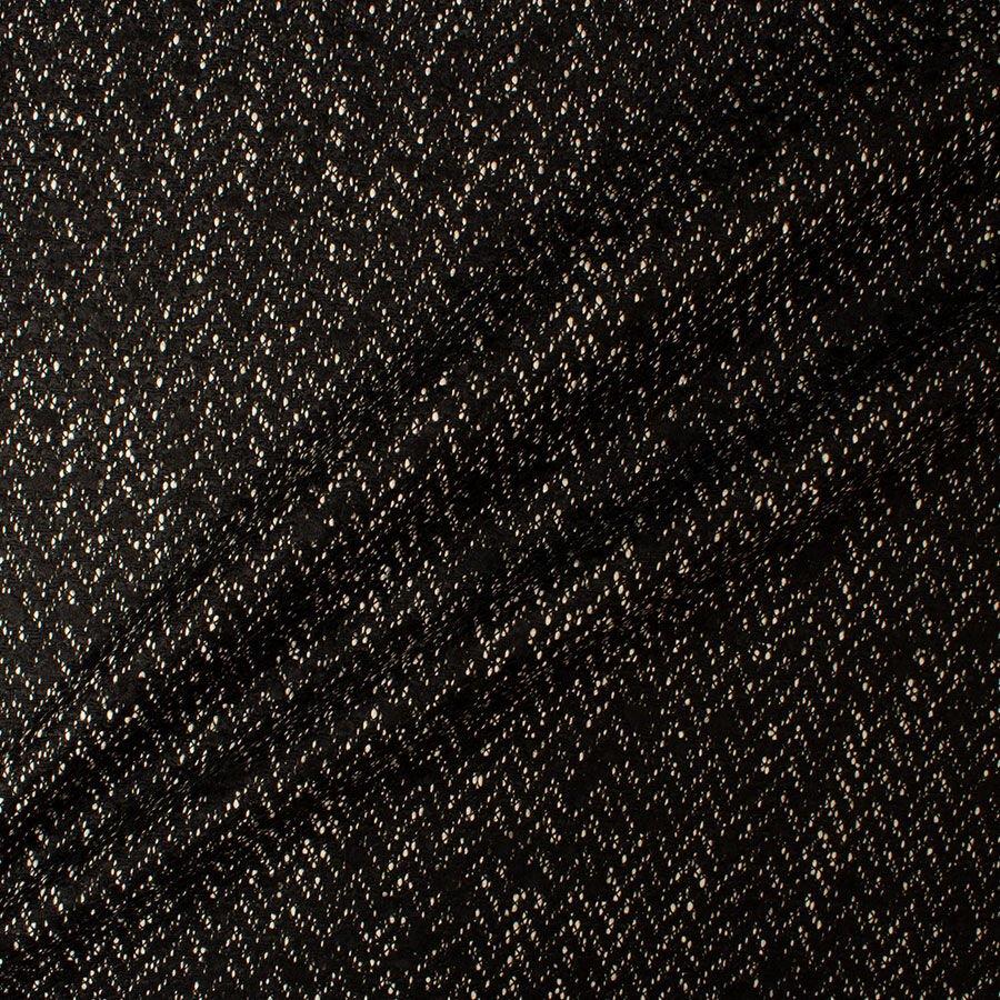 Black Chevron Speckled Bouclé