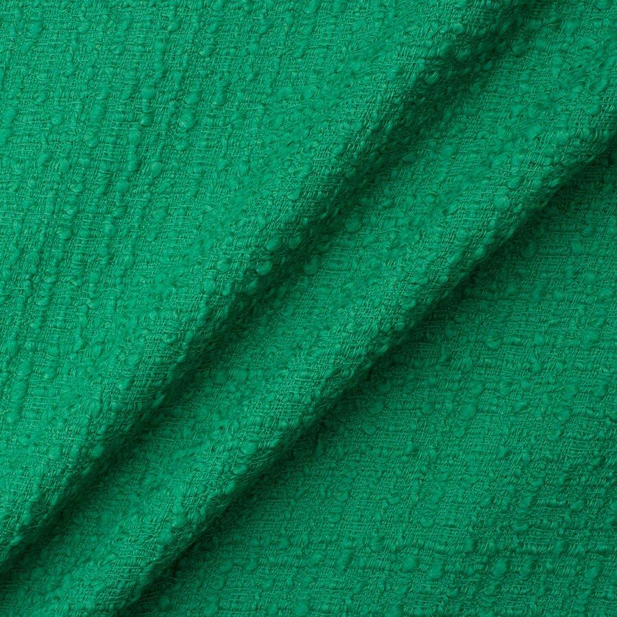 Emerald Green Wool Blend Bouclé