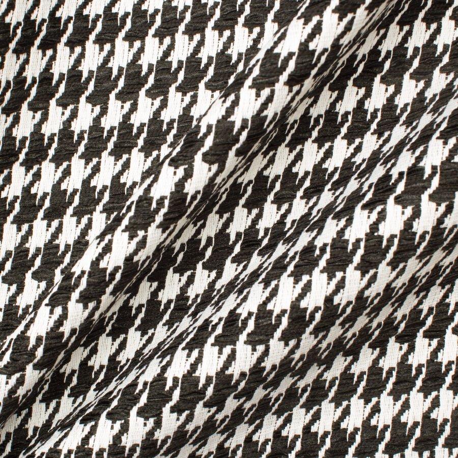 Monochrome Woven Houndstooth Bouclé