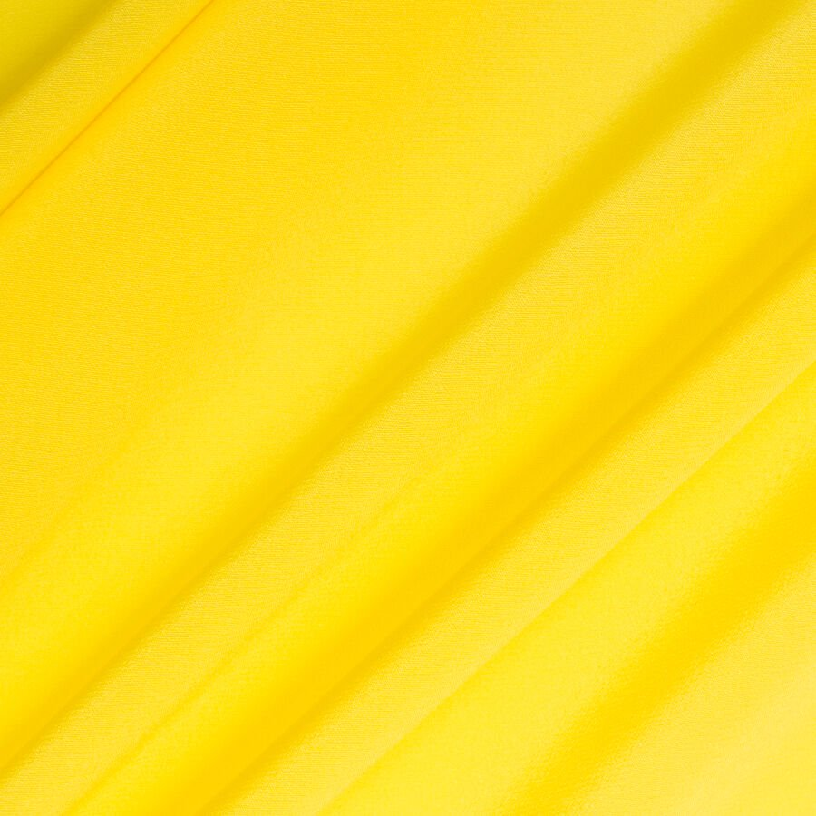 Fluorescent Yellow Silk Crêpe de Chine