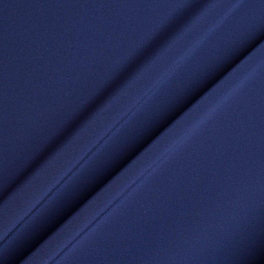 Dark Blue Silk Crêpe de Chine