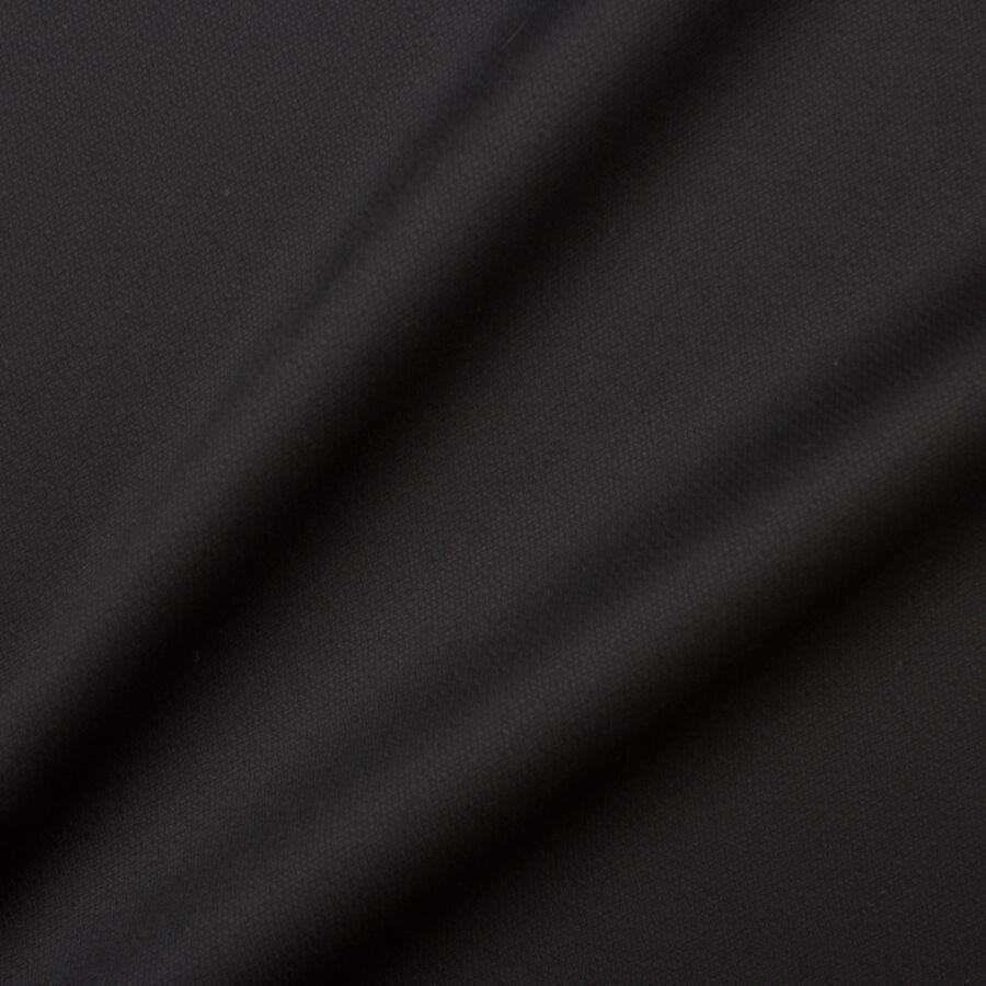 Black Merino Wool Suiting by Scabal