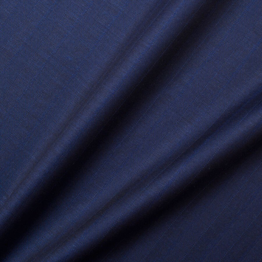Dark Blue Superfine 'Emotion' Pure Wool Suiting by Piacenza