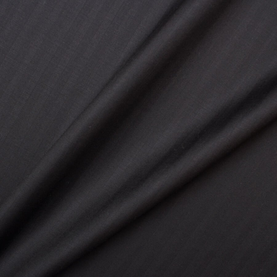 Black Superfine Pure Wool by Piacenza