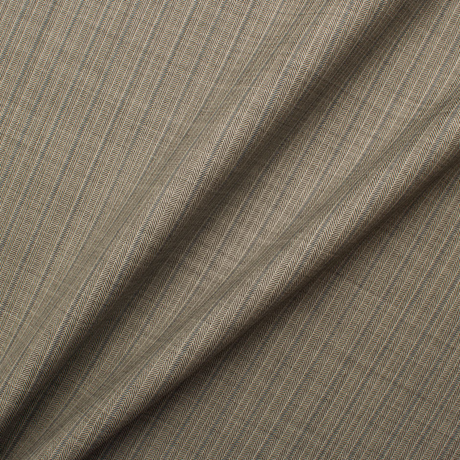 Grey Herringbone 15Mil Pure Wool Suiting