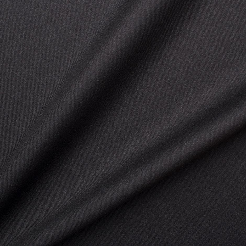 Dark Grey Silk & Wool 'Trofeo' Suiting by Ermenegildo Zegna