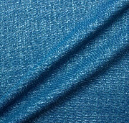 Dark Turquoise Mottled Wool & Silk Blend Suiting Fabric