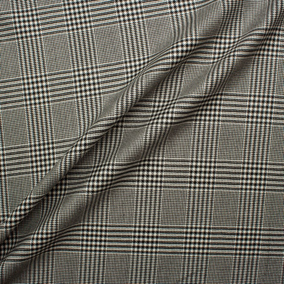Prince of Wales Check Worsted Spun Cashmere by Loro Piana<br />