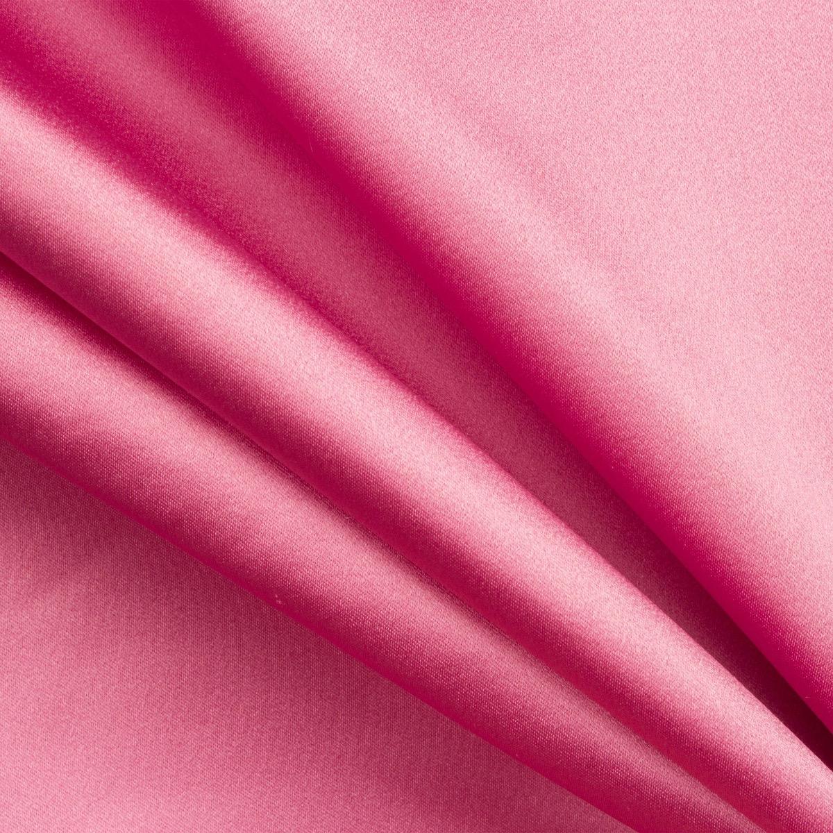 Bubble Gum Pink Silk Duchess Satin