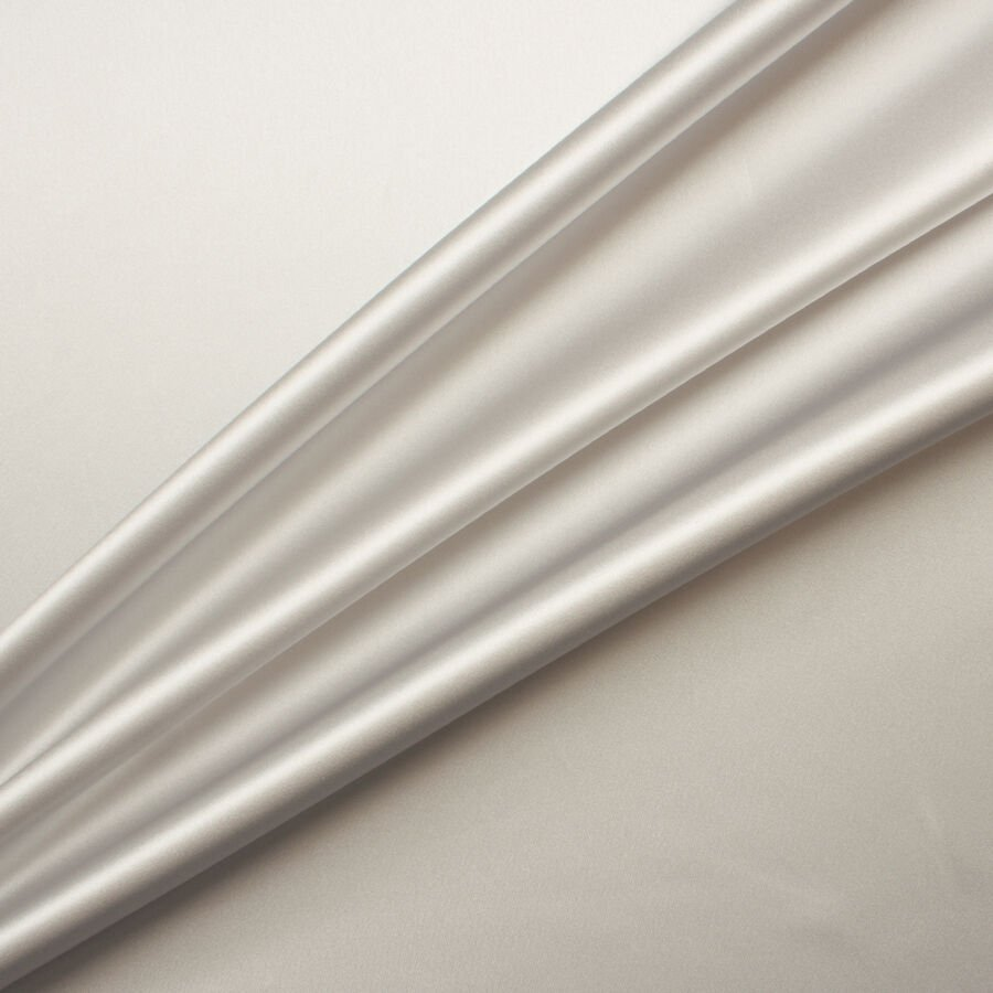 Pale Grey Silk Satin