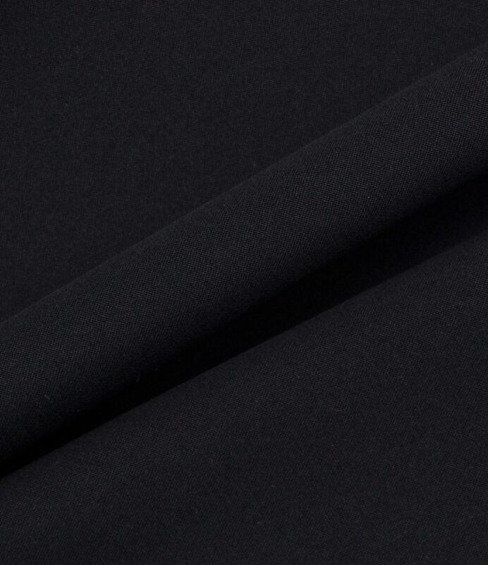 Get the look.<br />Jet Black Silk Marocain Crêpe