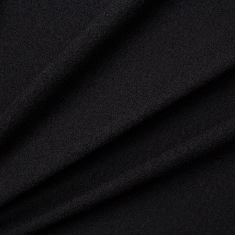 Get the look.<br />Black Single Wool Crêpe