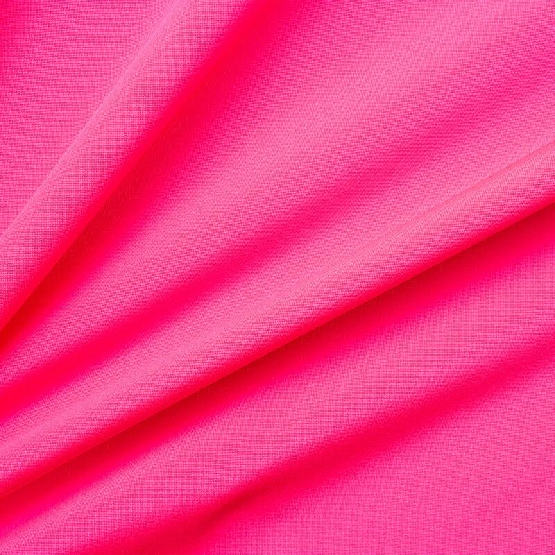 Get the look.<br />Fluorescent Pink Silk Marocain Crêpe