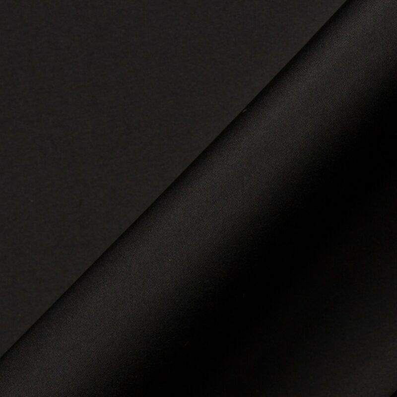 Get the look.<br /> Jet Black Silk Taffeta