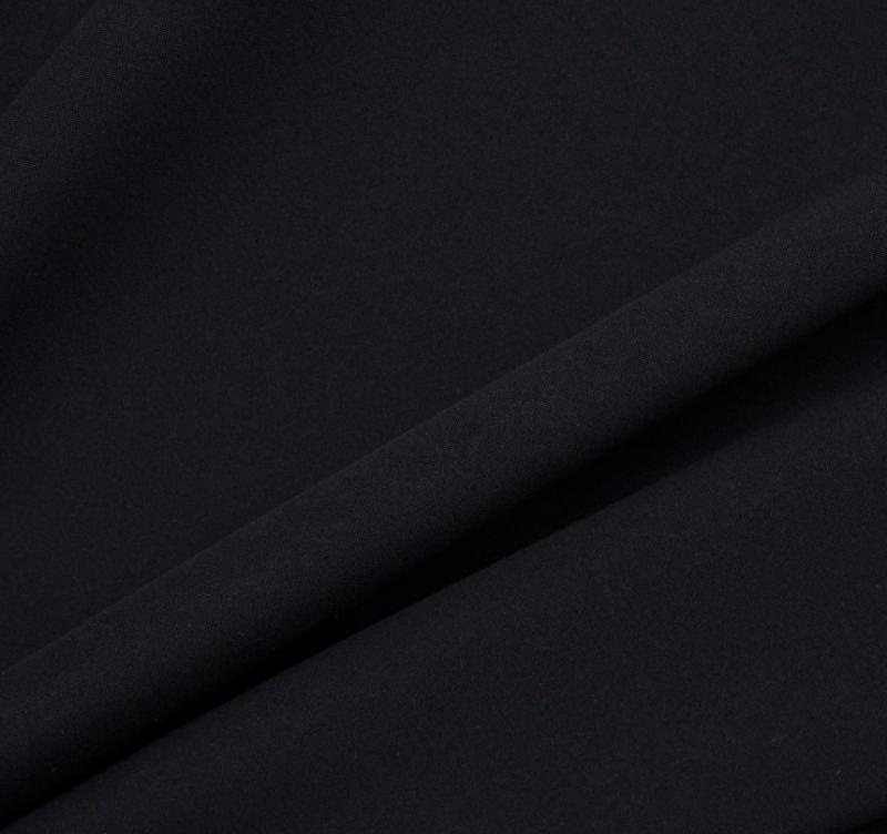 Recreate the look with our Jet Black Silk Marocain Crépe