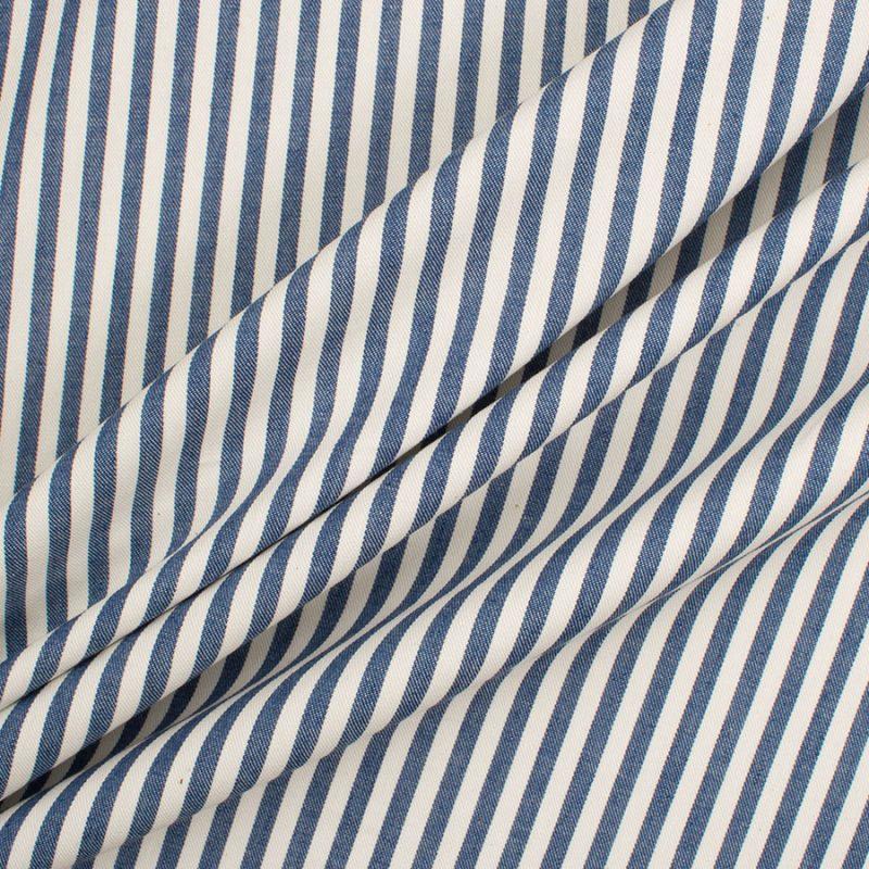 Recreate the look with our Blue & Ivory Stripe Cotton Drill