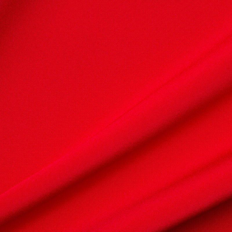 Bright Red Silk Marocain Crêpe