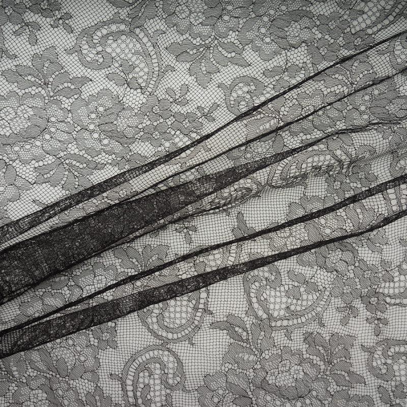 Black Metallic Chantilly Lace