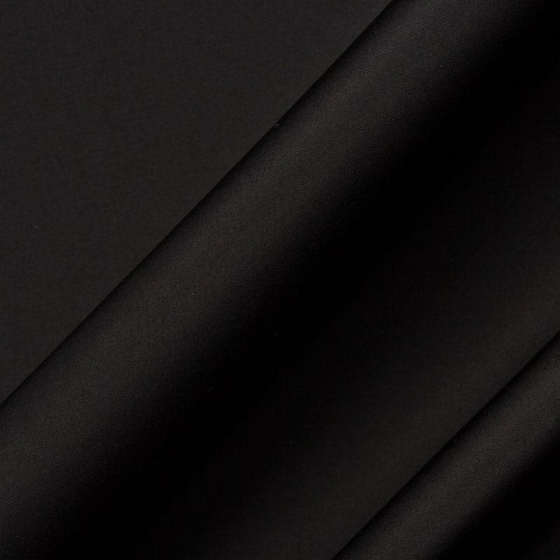 Jet Black Silk Taffeta