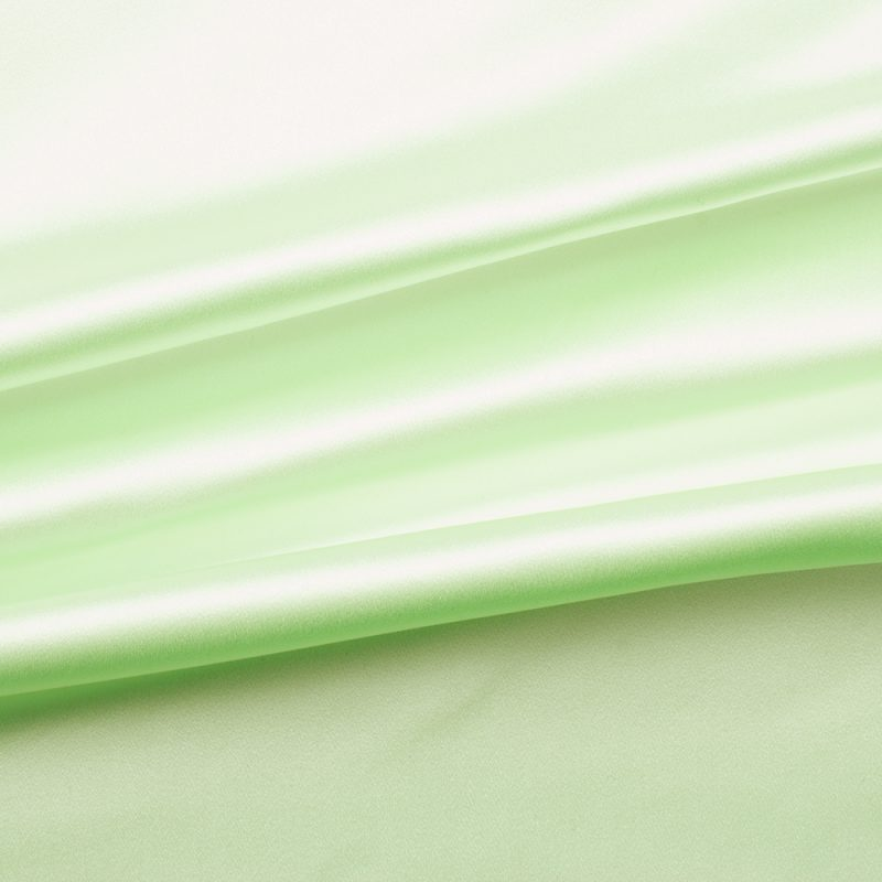 Mint Green Silk Mix Duchess Satin