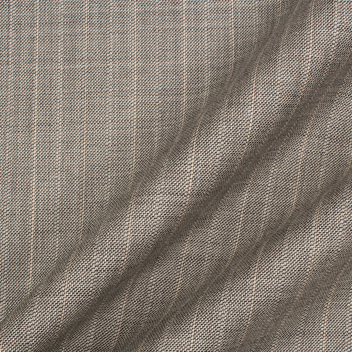 Soft Grey Pinstripe Superfine Trofeo Wool Suiting