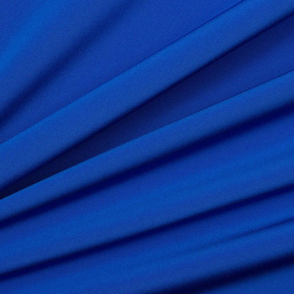 Electric Blue Silk Marocain Crêpe