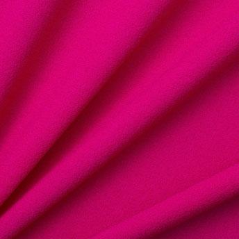 Hot Pink Single Wool Crêpe