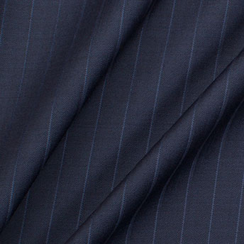Dark Blue 'Super 120's' Pinstripe Wool