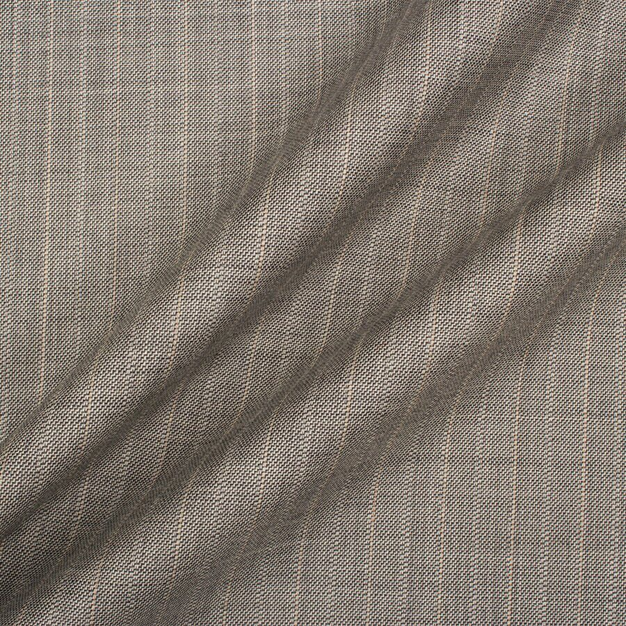 Soft Grey Pinstripe Trofeo Superfine Wool Suiting