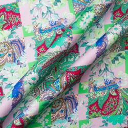 Green Floral Patchwork Luxury Cotton