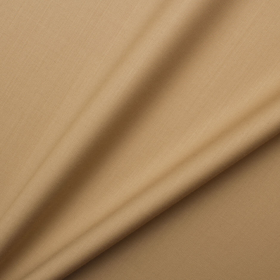 Beige 'Trofeo' Superfine Wool Suiting