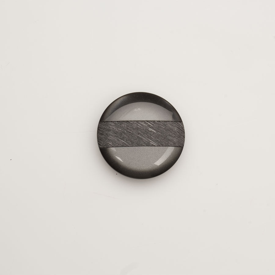 Large Black Textured Button