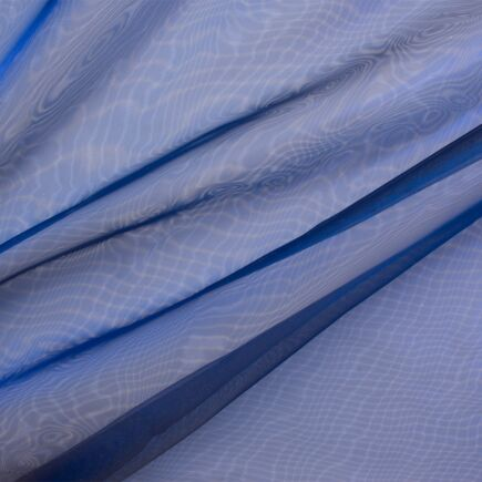 Blue Poly Organza