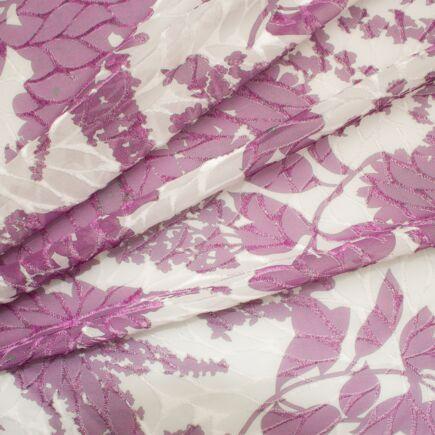 Lilac/Ivory Devoré Printed Velvet
