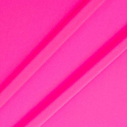 Fluorescent Pink Silk Crêpe de Chine