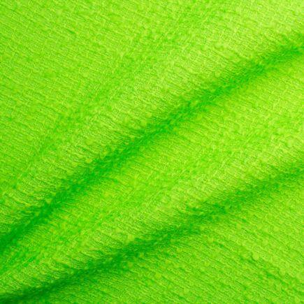 Fluorescent Green Wool Blend Bouclé