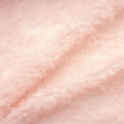 Baby Pink Hand Cut Organza Tulle
