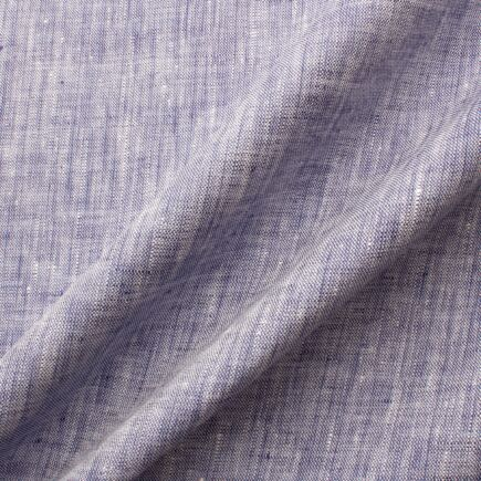 Blue/White Two Tone Handkerchief Linen