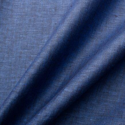 Two Tone Dark Blue Handkerchief Linen