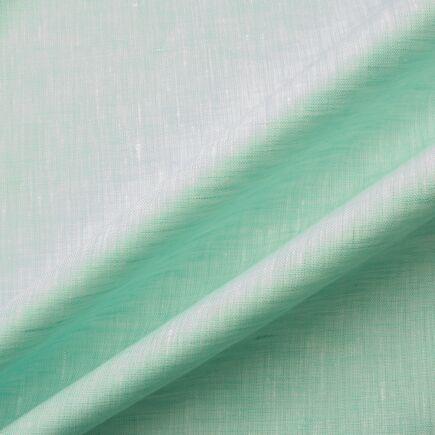 Pale Mint & White Two Tone Handkerchief Linen