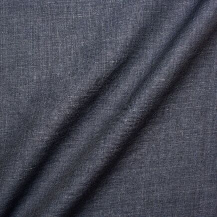 Slate Grey Pure Linen Suiting Fabric