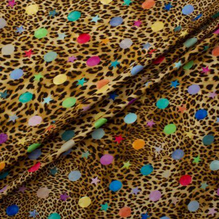 Stars & Spots Animal Print Silk Jacquard Fabric