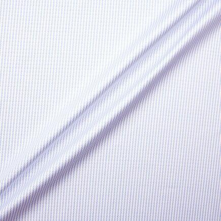Blue Jacquard Striped Fine Cotton Shirting Fabric