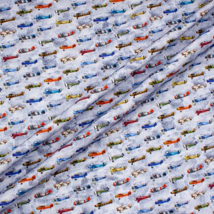 'Airplanes' Printed Superfine Pure Cotton
