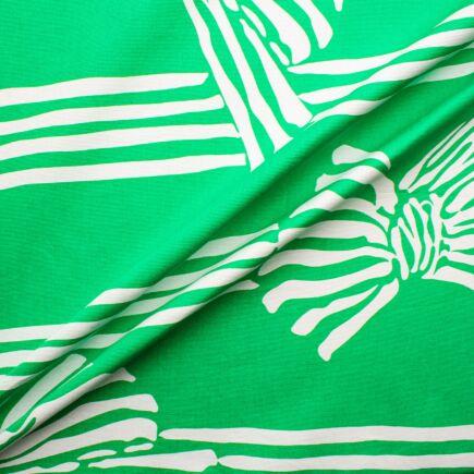 Apple Green & White D'Esté Cotton Twill